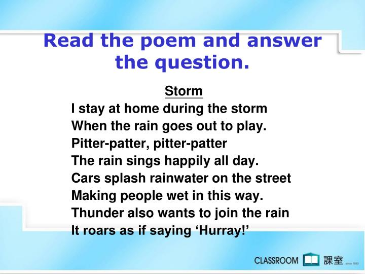 Read the poem and answer the question.