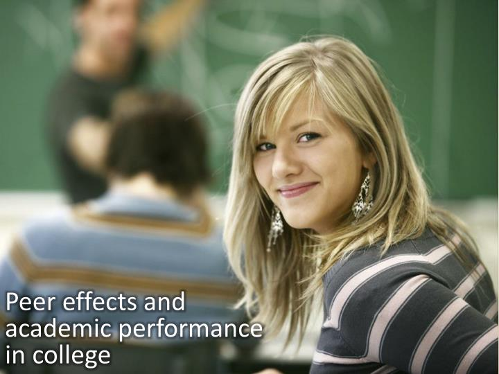 Peer effects and academic performance in college