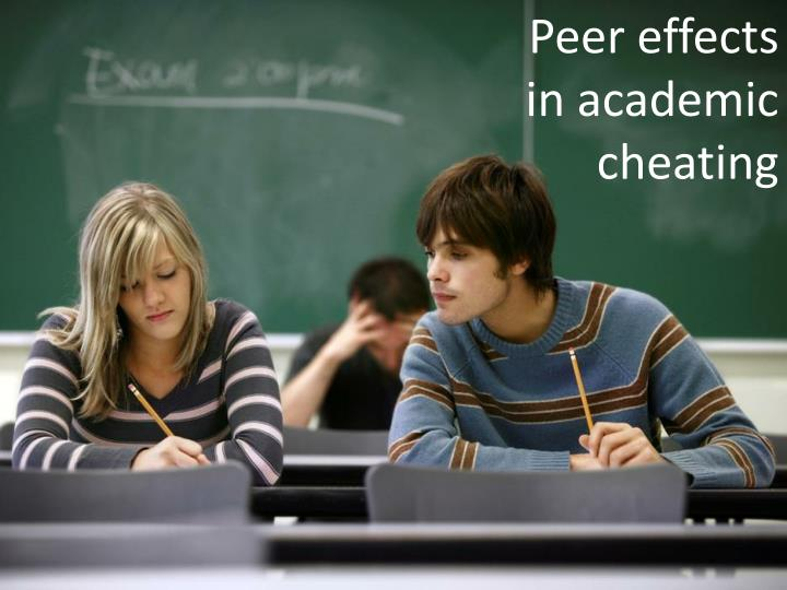 Peer effects in academic cheating