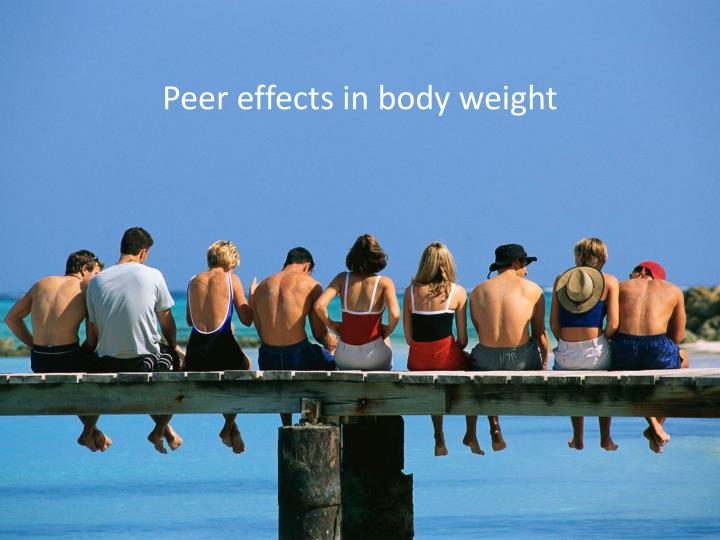 Peer effects in body weight