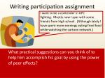 writing participation assignment
