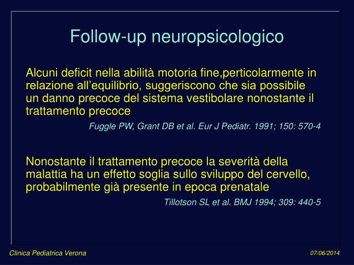 Follow-up neuropsicologico