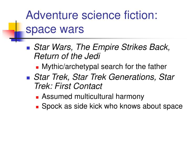 Adventure science fiction: space wars