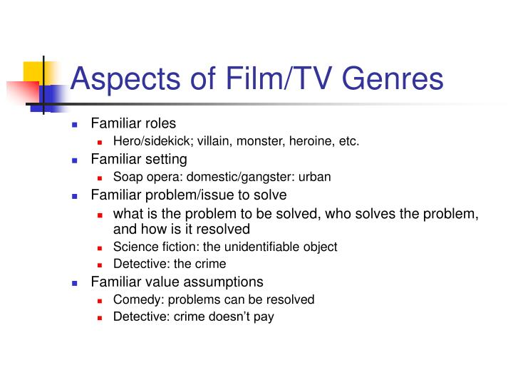 Aspects of film tv genres