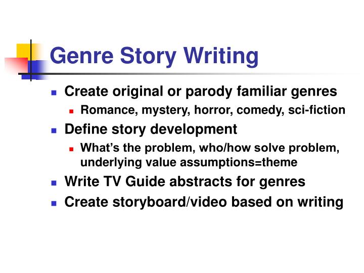 Genre story writing