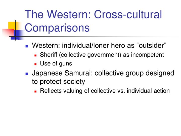 The Western: Cross-cultural Comparisons