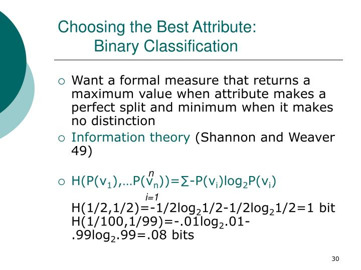 Choosing the Best Attribute: