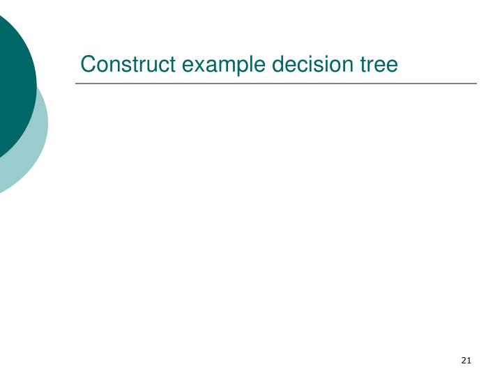 Construct example decision tree
