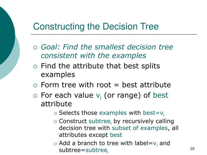 Constructing the Decision Tree