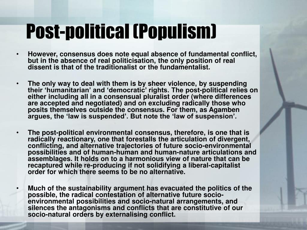 Post-political (Populism)