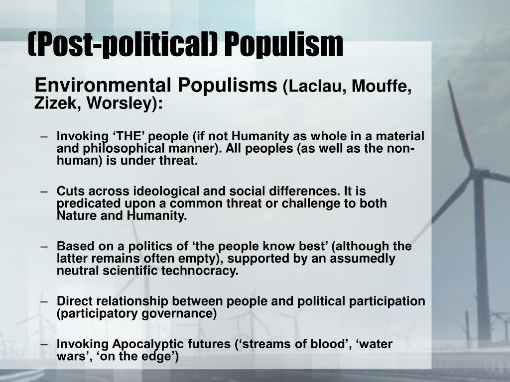 (Post-political) Populism