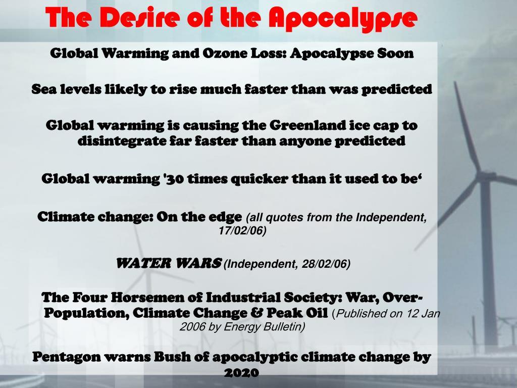 The Desire of the Apocalypse
