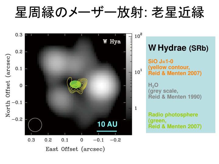 星周縁のメーザー放射