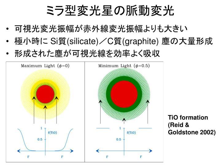 ミラ型変光星の脈動変光
