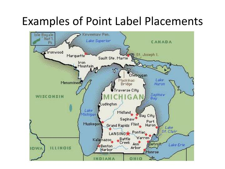 Examples of Point Label Placements
