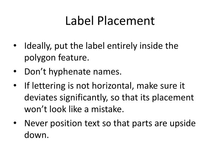 Label Placement