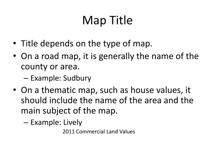 Map Title