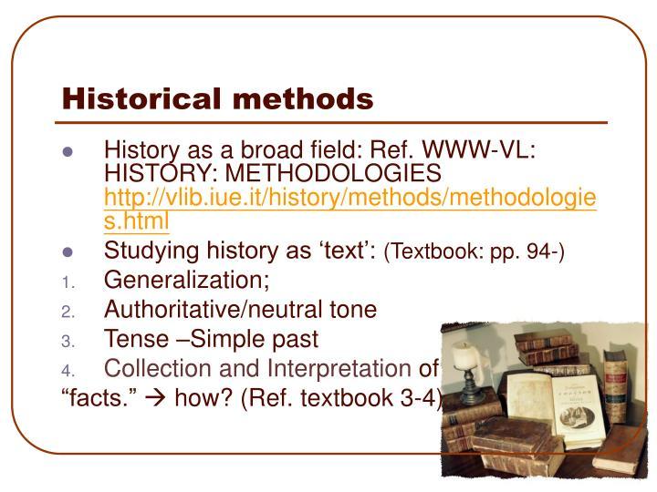 Historical methods