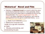 historical novel and film