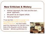 new criticism history