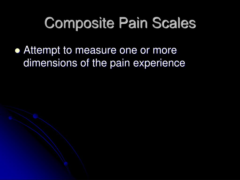 Composite Pain Scales