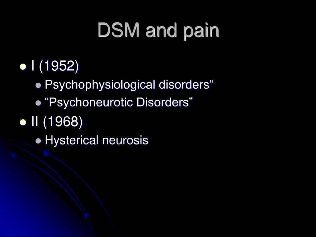 DSM and pain
