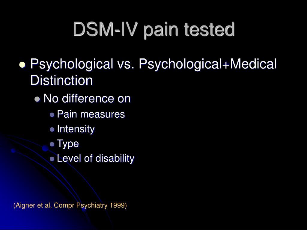 DSM-IV pain tested