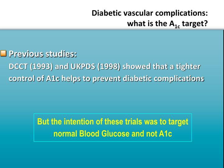 Diabetic vascular complications: