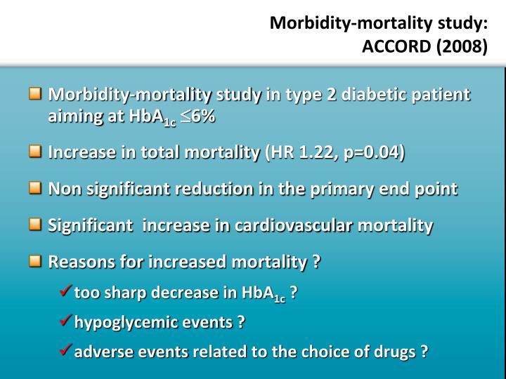 Morbidity-mortality study: