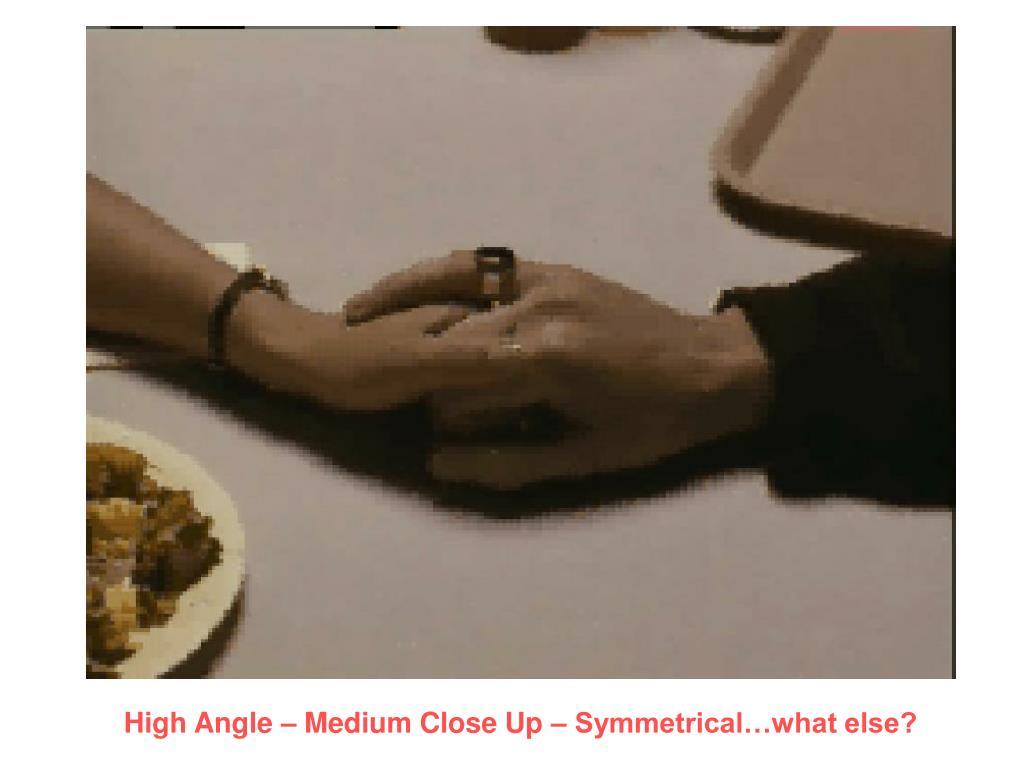 High Angle – Medium Close Up – Symmetrical…what else?