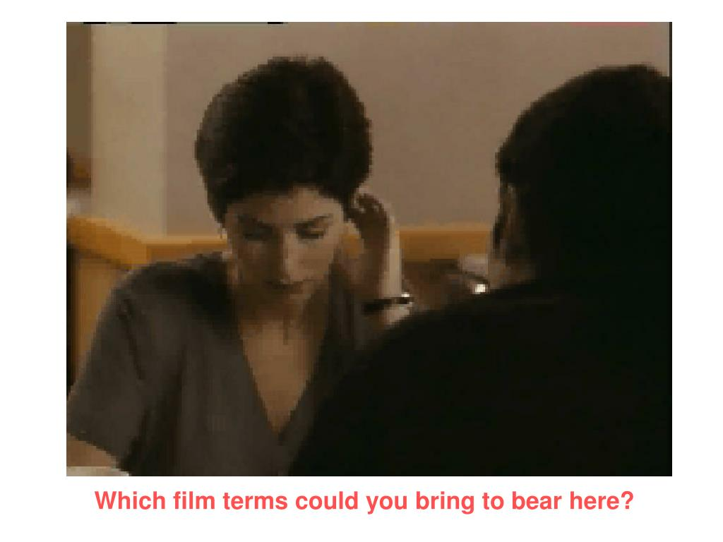 Which film terms could you bring to bear here?