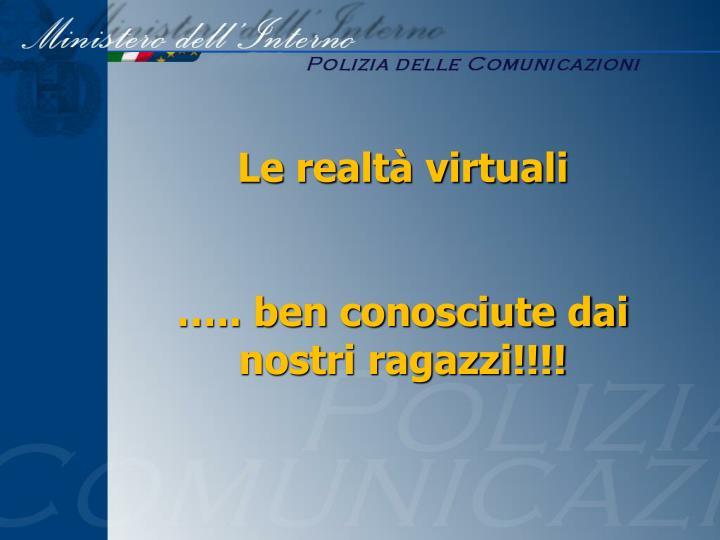 Le realtà virtuali