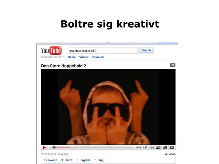 Boltre sig kreativt