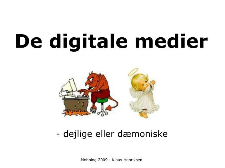 De digitale medier