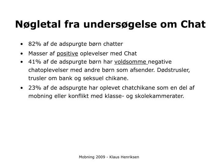 Nøgletal fra undersøgelse om Chat