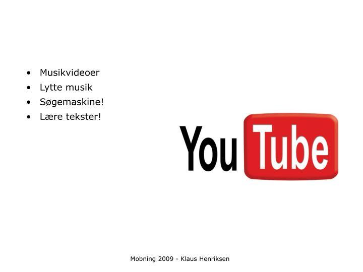 Musikvideoer