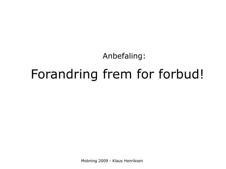Anbefaling: