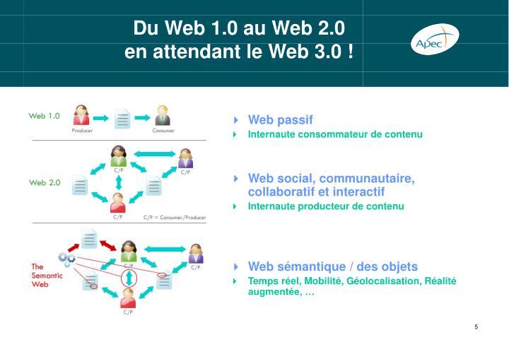 Du Web 1.0 au Web 2.0