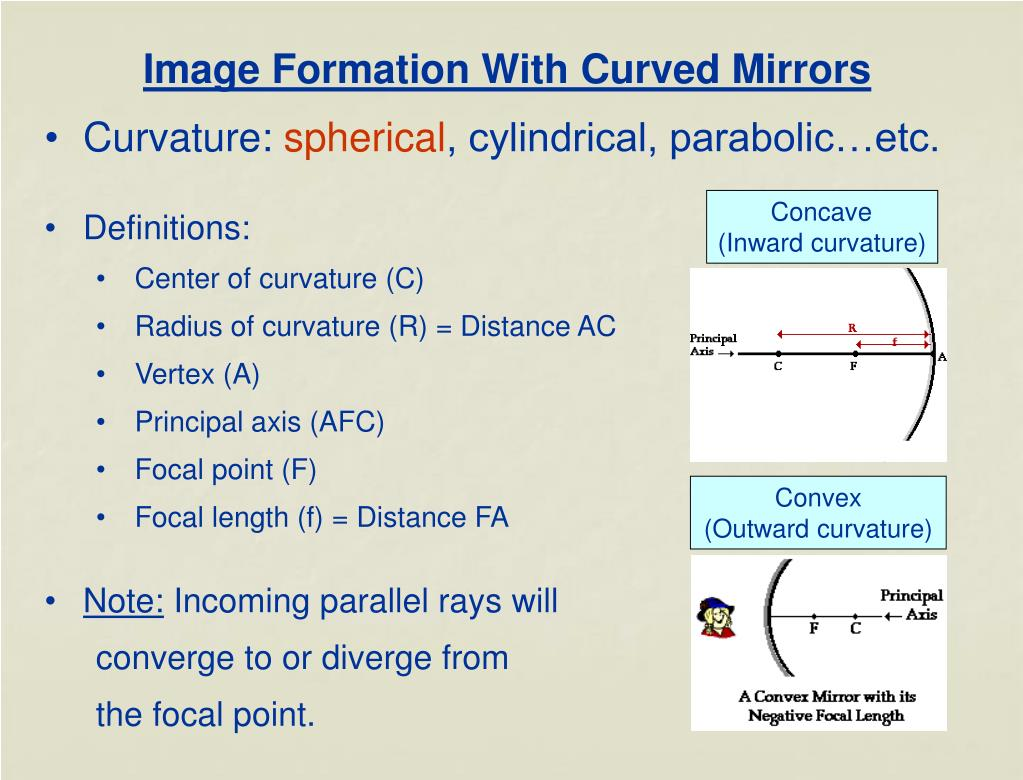 Image Formation With Curved Mirrors