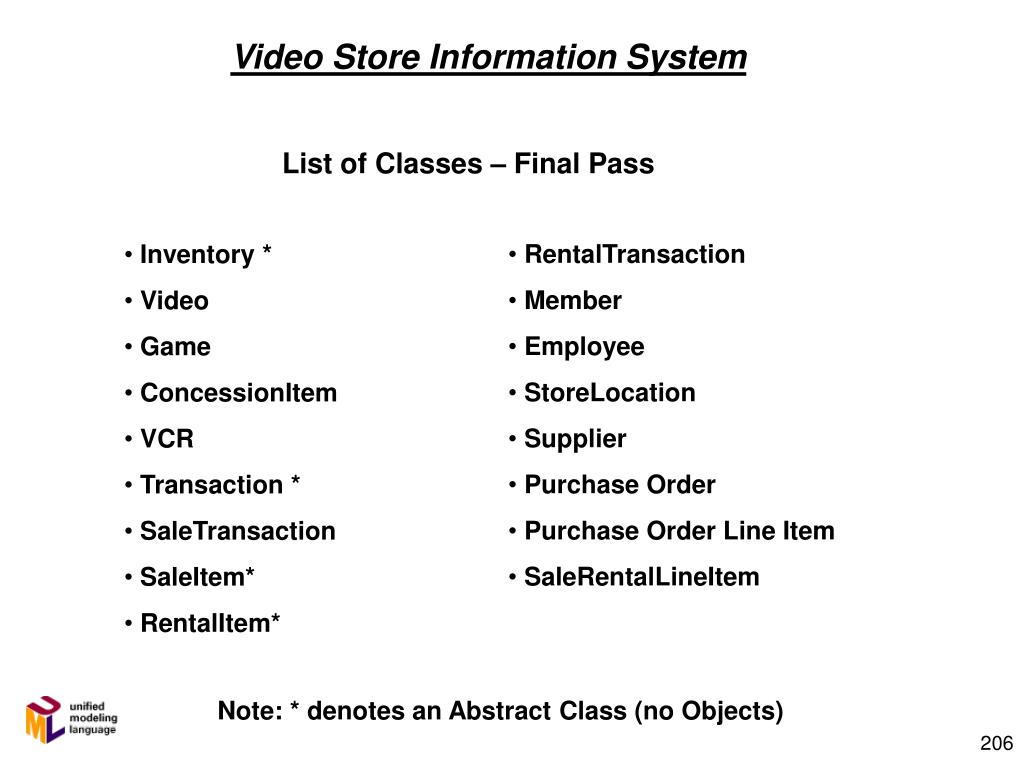 Video Store Information System