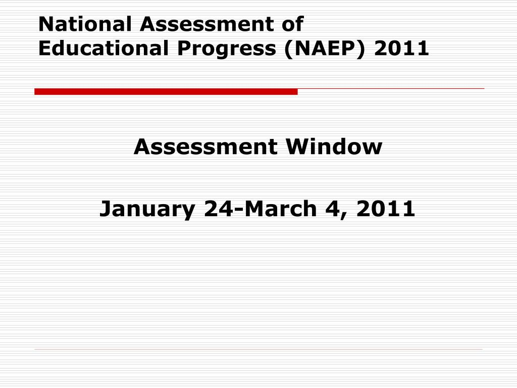 National Assessment of