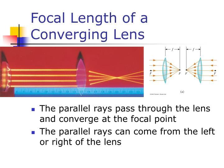 Focal Length of a Converging Lens