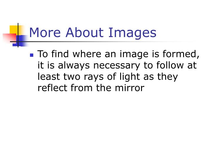 More About Images