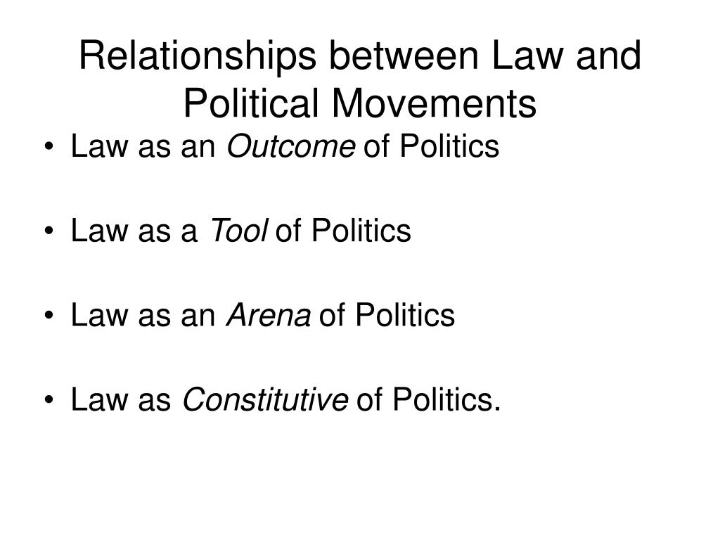 Relationships between Law and Political Movements