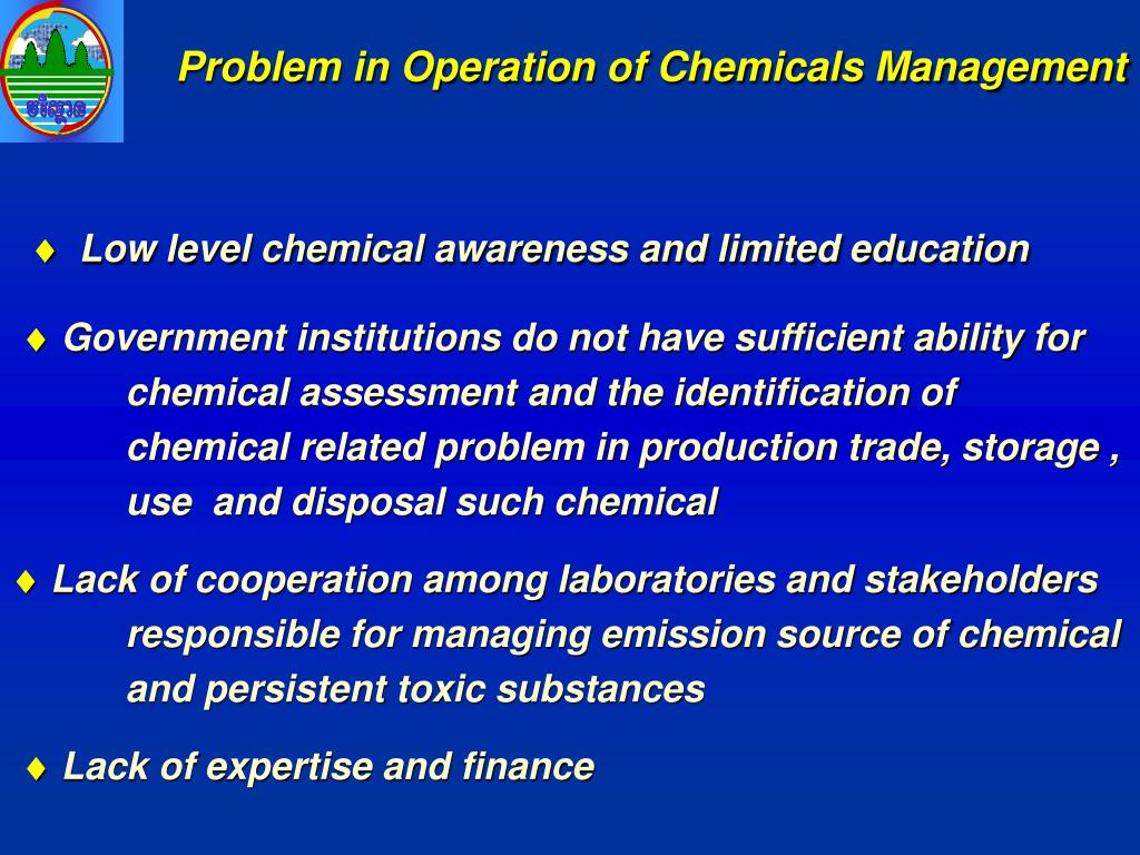 Problem in Operation of Chemicals Management