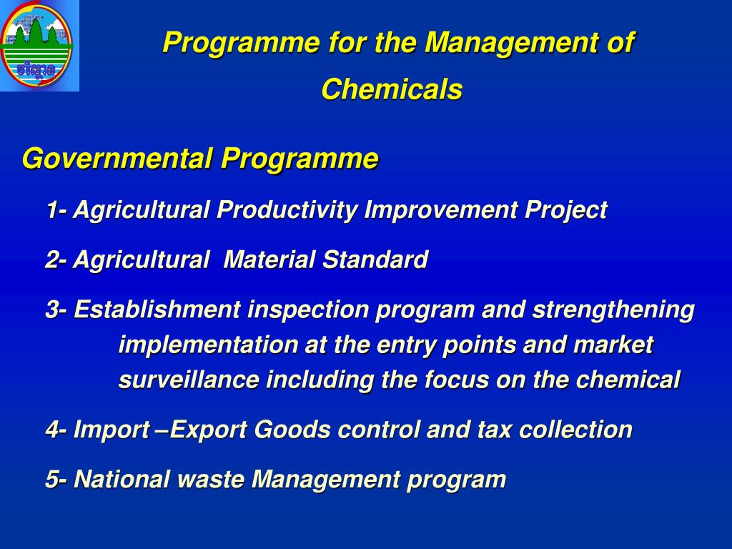 Programme for the Management of Chemicals