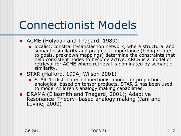 Connectionist Models