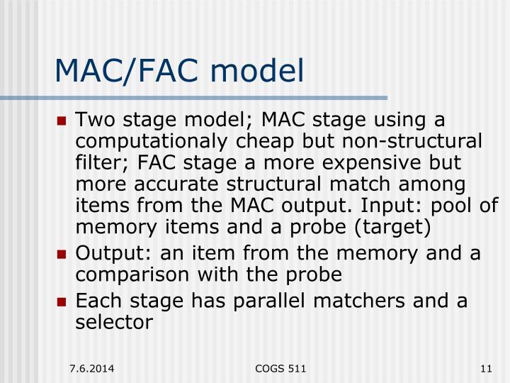 MAC/FAC model