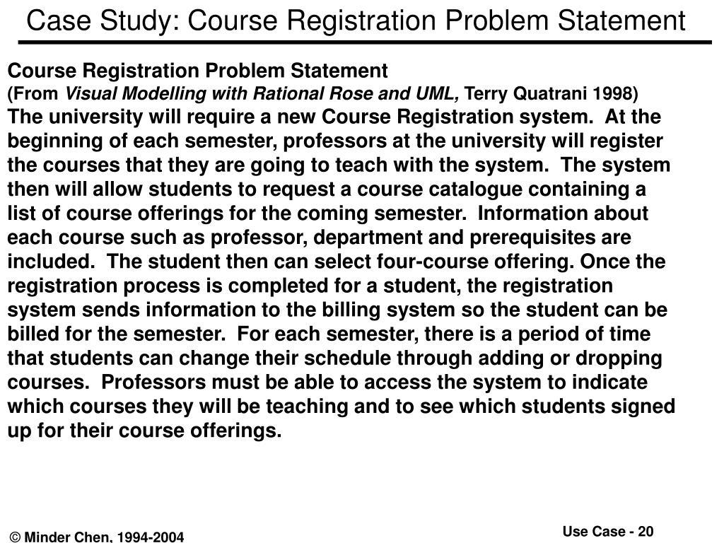 Case Study: Course Registration Problem Statement