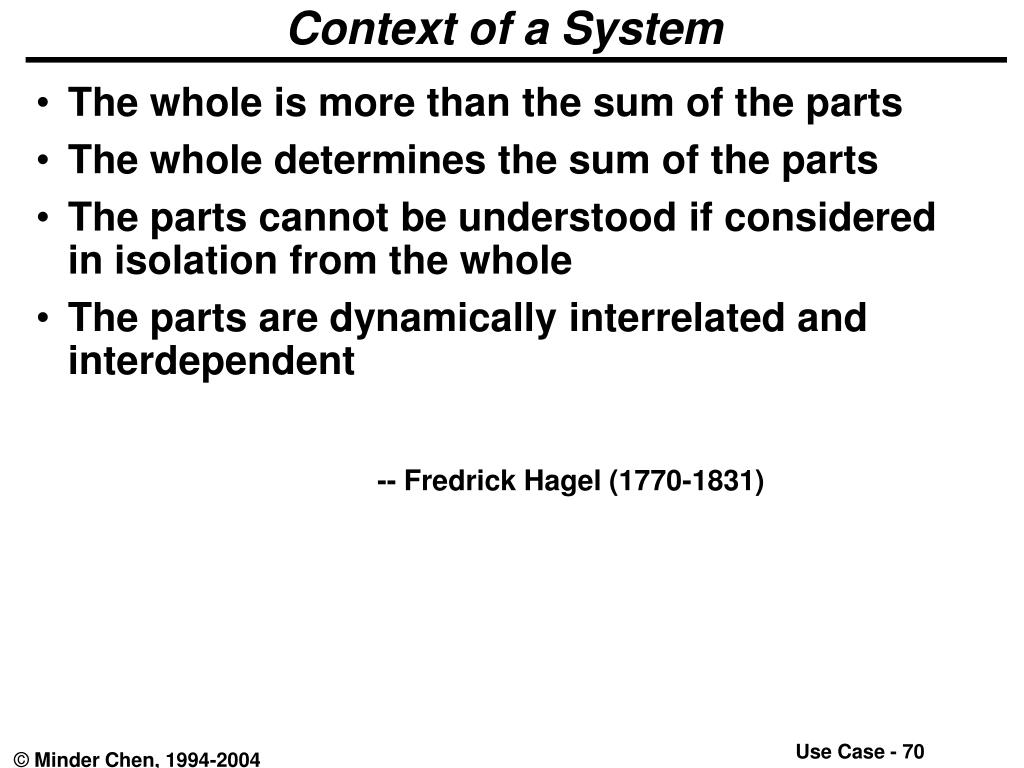 Context of a System